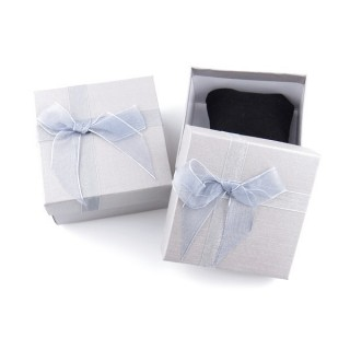 18825-08 PACK OF 6 GIFT BOXES FOR BRACELETS 9 X 9 X 5 CM IN SILVER