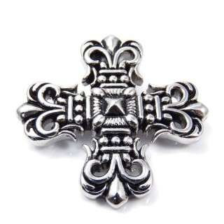 35140 CROSS SHAPED 48 X 48 MM STAINLESS STEEL PENDANT