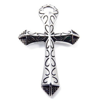 35141 CROSS SHAPED 71 X 46 MM STAINLESS STEEL PENDANT