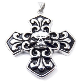 35143 CROSS SHAPED 57 X 51 MM STAINLESS STEEL PENDANT