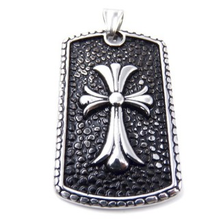 35144 CROSS SHAPED 53 X 32 MM STAINLESS STEEL PENDANT