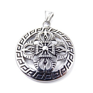 35145 ROUND STAINLESS STEEL 48 MM PENDANT