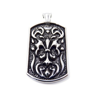 35159 STAINLESS STEEL 40 X 25 MM PENDANT