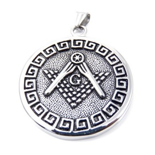 35164 ROUND STAINLESS STEEL 45 MM PENDANT