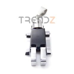 35172 COLGANTE ACERO FORMA DE ROBOT 37 X 17 MM