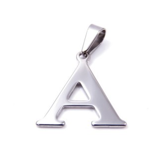 35205-01 STAINLESS STEEL LETTER SHAPED PENDANT APPROXIMATE SIZE 25 MM