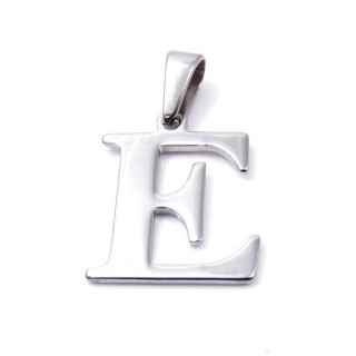 35205-05 STAINLESS STEEL LETTER SHAPED PENDANT APPROXIMATE SIZE 25 MM