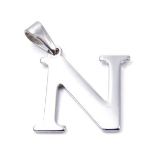 35205-14 STAINLESS STEEL LETTER SHAPED PENDANT APPROXIMATE SIZE 25 MM