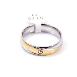 35249 PACK OF 10 STAINLESS STEEL RINGS IN ASSORTED SIZES WIDTH: 6 MM