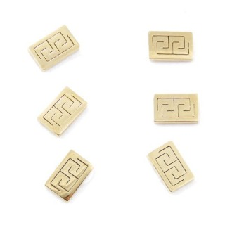 31203-35 PACK OF 3 PAIRS OF GOLDEN STAINLESS STEEL EARRINGS