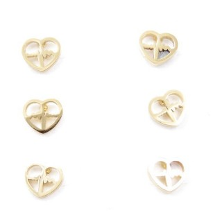 31203-36 PACK OF 3 PAIRS OF GOLDEN STAINLESS STEEL EARRINGS
