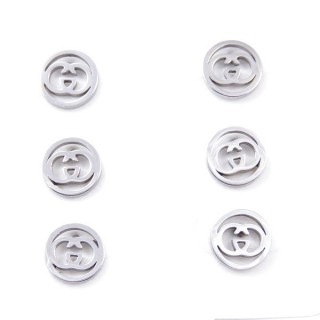 31202-63 PACK OF 3 PAIRS OF SILVER STAINLESS STEEL EARRINGS