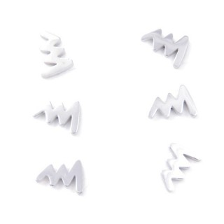 31202-70 PACK OF 3 PAIRS OF SILVER STAINLESS STEEL EARRINGS