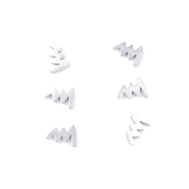 31202-70 PACK OF 3 PAIRS OF SILVER STAINLESS STEEL EARRINGS