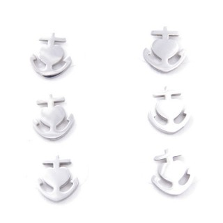 31202-76 PACK OF 3 PAIRS OF SILVER STAINLESS STEEL EARRINGS