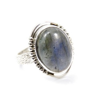 32950-10 ADJUSTABLE SILVER 22 X 16 MM RING WITH STONE IN LABRADORITE