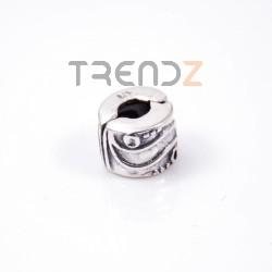 34129 STERLING SILVER BRACELET 9 X 8 MM CHARM