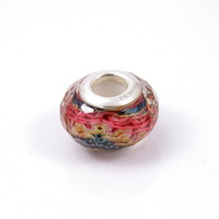 34147-01 RESIN AND SILVER 15 MM CHARM FOR BRACELET