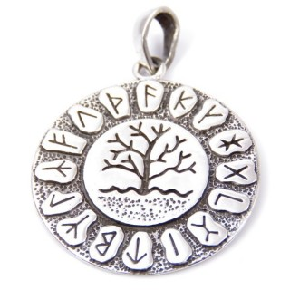 34213 STERLING SILVER TREE OF LIFE 28 MM PENDANT