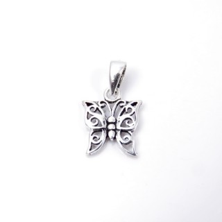 35309 BUTTERFLY SHAPED STERLING SILVER 12 X 10 MM PENDANT