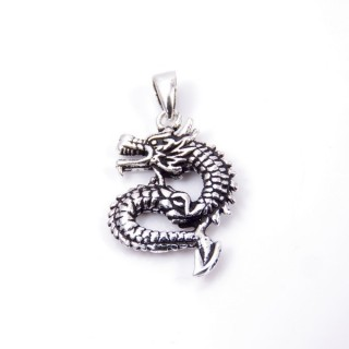 35319 DRAGON SHAPED STERLING SILVER 22 X 15 MM PENDANT
