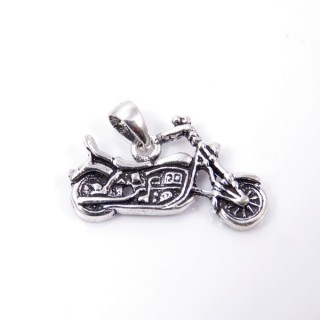 35321 STERLING SILVER MOTORCYCLE SHAPED 15 X 24 MM PENDANT