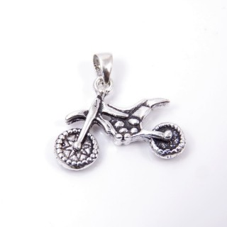 35322 STERLING SILVER MOTORCYCLE SHAPED 16 X 22 MM PENDANT