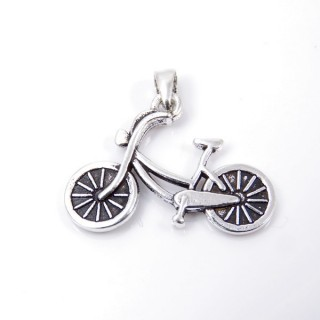 35323 STERLING SILVER BICYCLE SHAPED 18 X 25 MM PENDANT