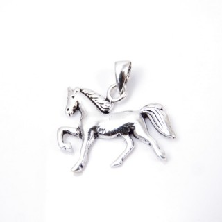 35326 HORSE SHAPED STERLING SILVER 17 X 21 MM PENDANT