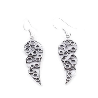 34364 SILVER WINGS 11 X 30 MM FISH HOOK EARRINGS
