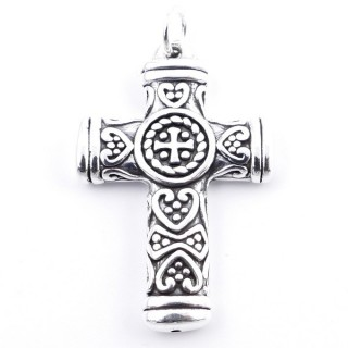 34527 ELECTROFORMING SILVER 925 CROSS SHAPED 41 X 27 MM PENDANT
