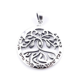 34535 SOLID SILVER TREE OF LIFE 25 MM PENDANT