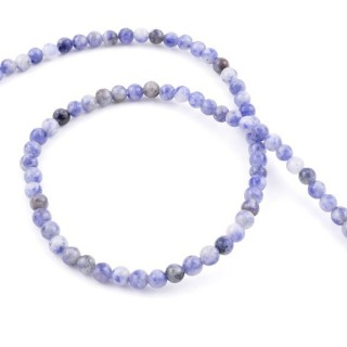 40653 STRING OF 88 BEADS OF 4 MM NATURAL SODALITE STONE