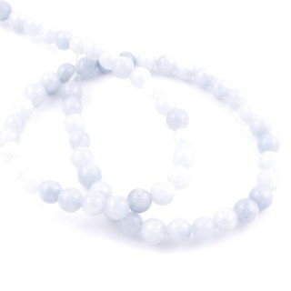 40704 STRING OF 60 BEADS OF 6 MM NATURAL BLUE QUARTZ STONE