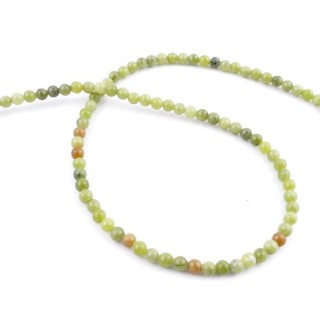 43003 STRING OF 92 BEADS OF 4 MM NATURAL VIETNAMESE JADE STONE