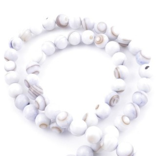 41556-05 STRING OF 56 BEADS OF MOTHER OF PEARL IN 7 MM