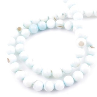 41556-08 STRING OF 56 BEADS OF MOTHER OF PEARL IN 7 MM