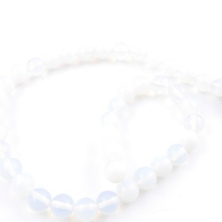 41656 STRING OF 38 BEADS OF OPALINE 10 MM STONE