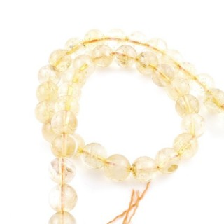41225 STRING OF 41 BEADS OF NATURAL CITRINE STONE IN 9.5 MM