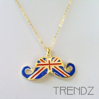 19454 SHORT GOLDEN NECKLACE WITH UNION JACK MOTIF