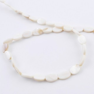 42093 STRING OF 33 BEADS OF OVAL 18 X 12 MM MOTHER OF PEARL