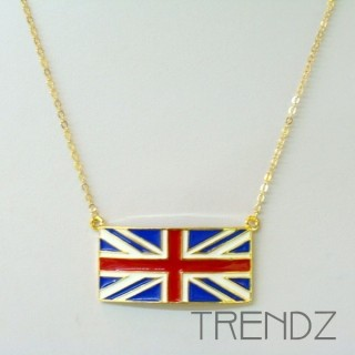 19455 SHORT GOLDEN NECKLACE WITH UNION JACK MOTIF