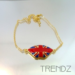 19459 GOLDEN BRACELET WITH UNION JACK CHARM