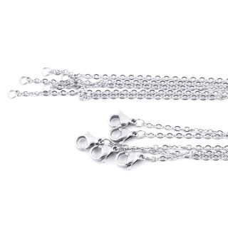 35192 PACK OF 5 STAINLESS STEEL 60 CM LONG CHAINS