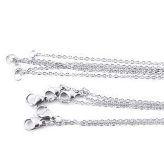 35189 PACK OF 5 STAINLESS STEEL 60 CM LONG CHAINS