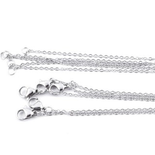 35187 PACK OF 5 STAINLESS STEEL 45 CM LONG CHAINS