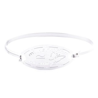 32311-29 STAINLESS STEEL BRACELET WITH CHARM