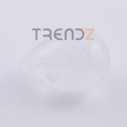 35522-04 EGG SHAPED 36 X 25 MM NATURAL STONE FIGURE IN WHITE QUARTZ