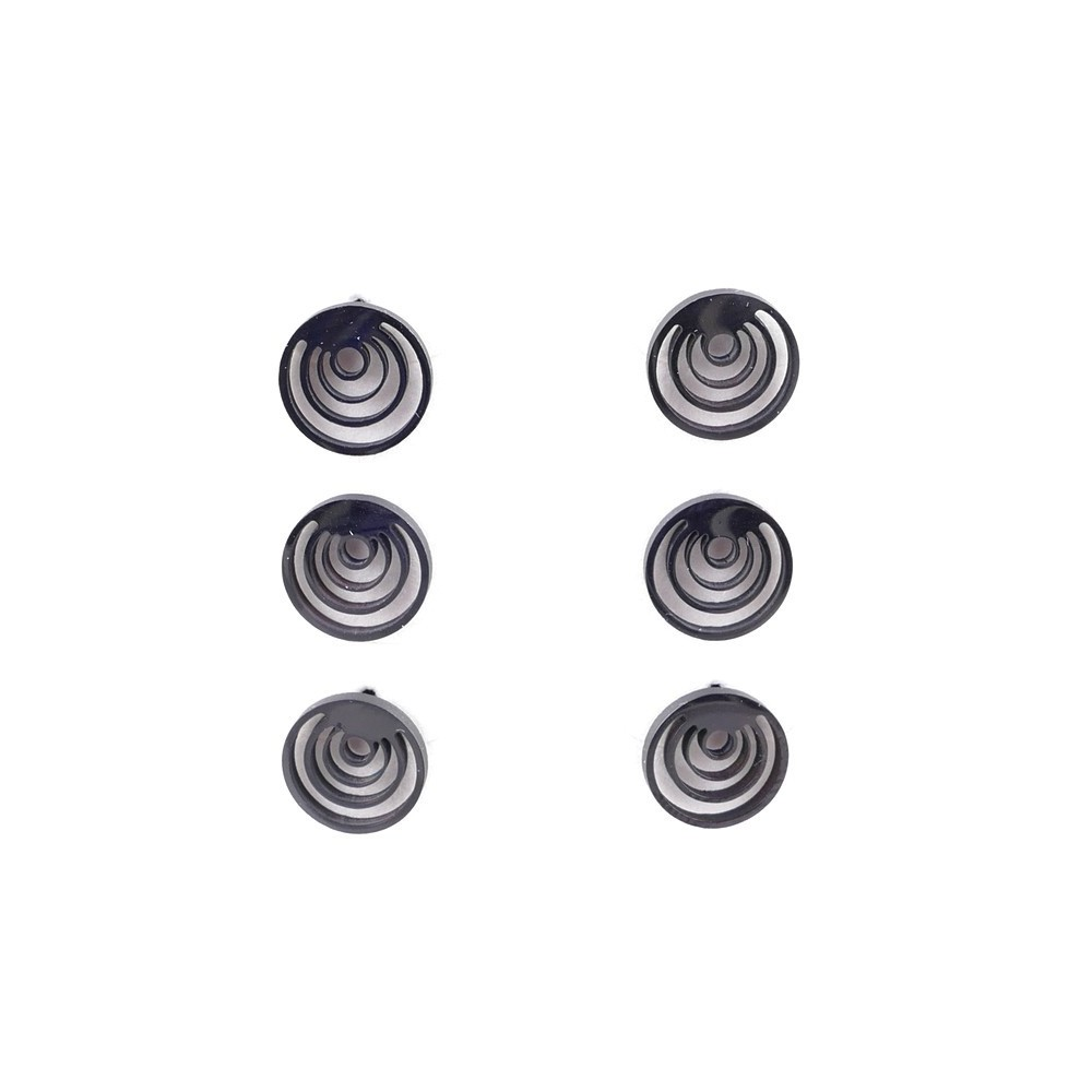 36437-01 PACK OF 3 IDENTICAL PAIRS OF BLACK STAINLESS STEEL EARRINGS