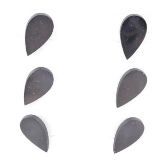 36437-03 PACK OF 3 IDENTICAL PAIRS OF BLACK STAINLESS STEEL EARRINGS